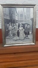 Altes Antikes Gemälde Bild hinter Glas von A. Perez