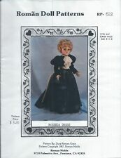 "Roman Doll Patterns #RP-622 ~ Sewing Pattern ~ ROSENDA DRESS ~ Fits 24"" Doll"