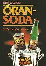X1557 ORANSODA tutto un altro mondo - Pubblicità del 1991 - Vintage advertising