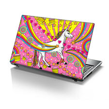 "TaylorHe 15.6"" Laptop Vinyl Skin Sticker Decal Pink Cupcake Rainbow Unicorn 2216"