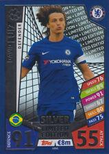 Match Attax Ligue des Champions le6s-David Luiz-Limited Edition Argent 17/18