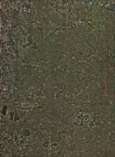 West london. satellite photo 2000 ancienne vintage carte plan graphique