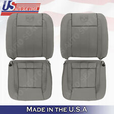 2006 2007 2008 2009 Dodge Ram Laramie Front Bottoms-Tops Leather Seat Cover TAN