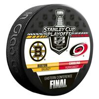 Boston Bruins 2019 Carolina Hurricanes Stanley Cup Playoff Hockey Puck