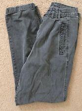 Womens Vintage 80's Highwaist Straight Leg Faded Black Cotton Pants