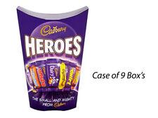 CADBURY HEROES CHOCOLATE CARTON 185g x 9 BOX'S FULL CASE MOTHERS DAY GIFT 196199