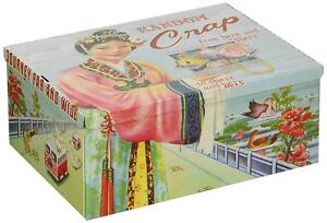 Tin Cigar Box RANDOM CRAP Treasure Tin Retro Kitsch Storage Stash