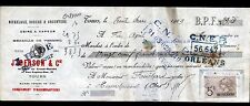 "TOURS (37) USINE de COUVERTS ORFEVRERIE Nickelage Dorure ""J. BERSON / HUDE"" 1909"