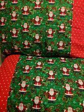 Santa Claus pattern 100% new Cotton handmade Pillowcase one pair