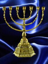 Judaica Menora Davidleuchter eckg Fuß Antikstil Religiöse Volkskunst Geschenk