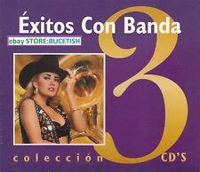 Exitos Con Banda Banda Coralillos,Banda Rafaga,Tello Guillon 3CD New Nuevo