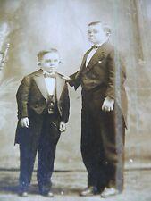 CAPTAIN JACK BARNETT AND SON HERBERT DWARF MIDGET CIRCUS RINGING BROTHERS PHOTO