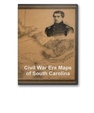 56 Rare Historic Civil War Maps of South Carolina SC  CD - B15