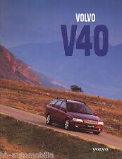 Volvo V40 Prospekt 1997 brochure MS/PV 8919-97 Auto PKWs Schweden Autoprospekt