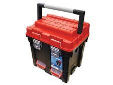 Faithfull FAITB17 Lockable Tackle Box Fishing Seat Tool Box Tote Tray CUBE