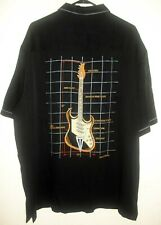 NWT TORI RICHARD EMBROIDERED SHIRT LARGE EMBROIDERED GUITAR  & PARTS-2XL
