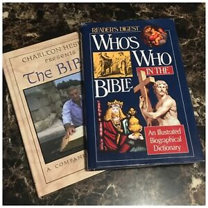 Readers Digest Whos Who In The Bible Charlton Heston Presents The Bible Lot