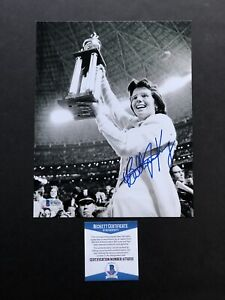 Billie Jean King autographed signed 8x10 photo Beckett BAS COA Tennis Women's