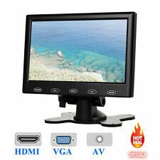 "Mini 7"" inch LCD CCTV Monitor PC Screen AV RCA VGA HDMI for DSLR Raspberry Pi"