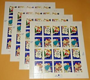 Four x 20 = 80 Of CHRISTMAS COOKIES 37¢ US PS Postage Stamps. Scott # 3949-3952