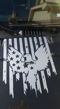 American Eagle Flag Decal hood graphic fits jeep ford Dodge Toyota Chevy vinyl