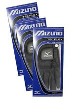Mizuno TecFlex Pack Of 3 Golf Gloves - Black