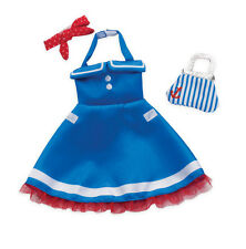 Groovy Girl Doll Clothes Dress Scarf Sailoretta Blue White Red Manhattan Toy NEW