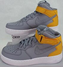 New Womens 8 NIKE Air Force 1 07 Mid Seasonal Stealth Grey Shoes $110 818596-001