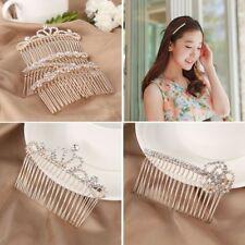 Elegant Women Girls Headwear Bling Crystal Rhinestone Hair Clip Barrette Hairpin