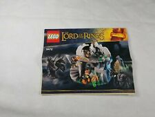 Lego 9472 Lord of the Rings Attack on Weathertop  manual ONLY