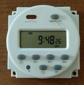 16 Amp Digital Timer 200-250V AC 7 Day Lighting Heating Time Switch UK Seller
