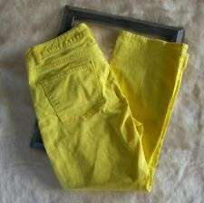 Talbots 10/30 Cropped Lemon Yellow Jeans Crop Flare