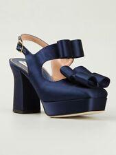 Vivienne Westwood Square Toe Platform Satin Bow Shoes