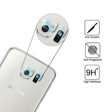 For Samsung Galaxy S6 S6 Edge Back Camera Lens + Flash Tempered Glass Protector