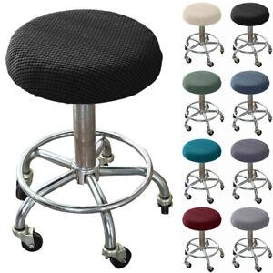 Velvet Soft Round Chair Cover Bar Stool Seat Cushion Sleeve Slipcover Protector