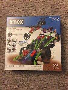 K'NEX Rad Rides Set 15214 206 Piece Set NEW