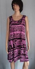 Jostar BLACK & Purple  SLINKY TANK DRESS Wrinkle Free Travel Fabric M