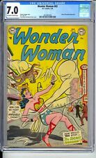 WONDER WOMAN #63  CGC 7.0 FN/VF  SUPER SCARCE FROM 1954!  NICE OW/W PAGES!