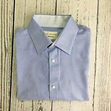 Ted Baker Endurance Mens Blue Long Sleeve Dress Shirt Size 15.5  34/35     1448