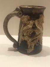 Ugly Mug Cup Pottery Signed Shaggy Dog Funny Face