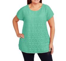 Faded Glory Women's Lace Blouse Plus Size 4XL