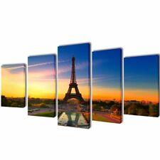 Set of 5 Eiffel Tower Canvas Prints Framed Wall Art Decor Painting 100x50cm