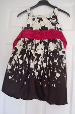 BEAUTIFUL GIRLS BONNIE JEAN PARTY DRESS AGE 6 BLACK & IVORY PINK BELT