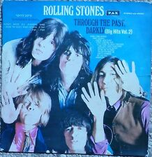 Rolling Stones - Through The Past RARE 1st Israel 1969 Hebrew & Black & White !!