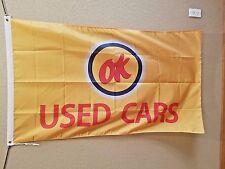 Chevrolet OK Used Cars Flag sales car lot dealer Chevy vintage advertising