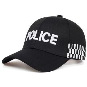 Mens Embroidery POLICE Baseball Cap Tactical Snapback Hats Adjustable Trucker