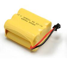 2 pcs Ni-Cd AA Toy Car SM 2Pin Plug 7.2V 700mAh RC Rechargeable Battery Yellow