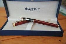 Sheaffer Targa Fountain Pen Rare Laque Red Marble - Classic size mint uninked
