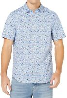 Nautica Mens Shirt Blue Small S Floral Stretch Classic Fit Button Down $59 382