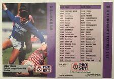 Pro Set Football Trade Gillingham FC Fixtures List Feat Steve Lovell No 80